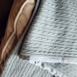 Link Cashmere Throw - Cotton Candy - The fireplace glows, beside it a favorite chair calls, and a cashmere throw ever-so-gently warms an evening of sipping cognac and reading tales. The Link Cashmere Throw features a link type pattern delicately embossed within ultrasoft cashmere and accented with a delicate silk border to match.