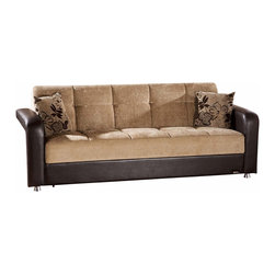 Istikbal - Vision Sofa Sleeper in Benja Light Brown - Plush Vision Sofa Bed in Benja Light BrownFinish blends transitional style with comfort for stylish addition to your living space. Extra deep seating, a plush seat back and cozy fabric upholstery combine for one stylish seat. It features an under-seat storage space and a pull flat sleeper bed.