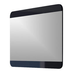 """Macral - Code Wall-Frameless Mirror, Black, 40"""" - Code Framed mirror Black High gloss 40"""". The price ONLY includes the mirror, all the rest items such as the vanity, the faucet, linen cabinet...are NOT INCLUDED, but can be sold separately."""