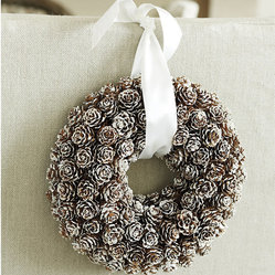 Snowy Mini Pinecone Wreath