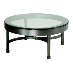 Stone County Ironworks - Cedarvale Iron Coffee Table w Beveled Glass Top (Antique Copper) - Finish: Antique Copper. Heavy iron band supports thick beveled glass. Combines smooth surfaces with rich textures. 36 in. W x 36 in. D x 20 in. H (108 lbs.)The design is highly transitional, fitting nicely into almost any decor from elegant to rustic, old world or even contemporary.
