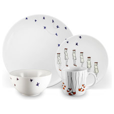Contemporary Dinnerware Sets by Ink Dish