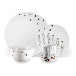 December 16-piece Dinnerware Set by Alyson Fox