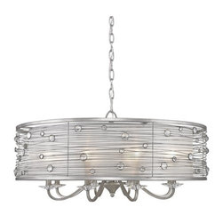 Golden Lighting - Golden Lighting 1993-8 Joia 8 Light Drum Chandelier - Golden Lighting 8 Light Drum Chandelier from the Joia CollectionFeatures: