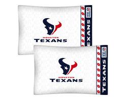 Store51 LLC - NFL Houston Texans Football Set of 2 Logo Pillowcases - Features: