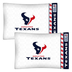 Store51 LLC - NFL Houston Texans Football Set of 2 Logo Pillow Cases - FEATURES: