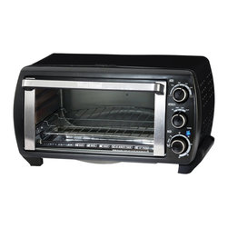 West Bend - West Bend Platinum Edition Countertop Oven - Cook a 12-inch frozen pizza in less time that it takes to preheat a standard oven with this large West Bend toaster oven. This convenient counter top appliance features several cook settings as well as a reversible wire rack for easy use.
