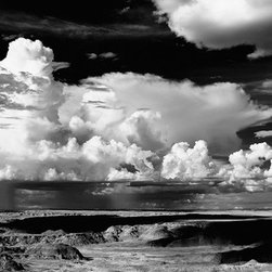"""Painted Desert - Large-Scale, Limited Edition Photography - This large format 44"""" X 19"""" desert photography print of the oncoming storm clouds over the painted desert is beautifully dramatic and would be a bold piece for any room."""