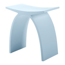 ADM - Matte White Stone Resin Bathroom Stool - S-101