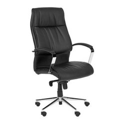 Safavieh Fernando Desk Chair - Black - Whether you're on the clock or off the clock, managing bills or managing employees, the Safavieh Fernando Desk Chair - Black is that perfect perch. Its sleek, modern design features a metal base and arms with a high-shine finish, and the black faux leather upholstery is as cozy as it is chic. Plus, rubber wheels and an adjustable height come in handy during those extra-long work sessions.About SafaviehSafavieh is a leading manufacturer and importer of fine rugs. Established in 1914 in the capital of Persian weaving masters, the company today brings three generations of knowledge and experience to its award-winning collections. In the United States since 1978, Safavieh has been a pioneer in the creation of high-quality hand-made rugs, a trend that revolutionized the rug business in America. Its collections range from the finest antique and historical reproductions to the most fashion-forward contemporary and designer rugs.