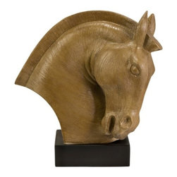 IMAX CORPORATION - Regency Horse Statue - Our Regency Horse Statue is a powerful statue that will add elegance to any side table or desk in your home. Depicting the powerful, strong and lithe animal, this piece boasts a beautiful horse's head with a chic black base. This statue, exclusively designed by R. Francel Goude, is sure to become a favorite piece in your home. Find home furnishings, decor, and accessories from Posh Urban Furnishings. Beautiful, stylish furniture and decor that will brighten your home instantly. Shop modern, traditional, vintage, and world designs.