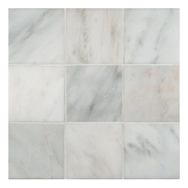 """Marbleville - Arabescato Carrara 4"""" x 4"""" Honed Marble Floor and Wall Tile - Premium Grade Arabescato Carrara 4"""" x 4"""" Honed is a splendid Tile to add to your decor. Its aesthetically pleasing look can add great value to any ambience. This Mosaic Tile is made from selected natural stone material. The tile is manufactured to high standard, each tile is hand selected to ensure quality. It is perfect for any interior projects such as kitchen backsplash, bathroom flooring, shower surround, dining room, entryway, corridor, balcony, spa, pool, etc."""