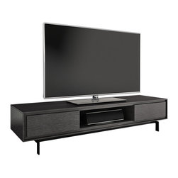 "BDI - Signal Entertainment Center - With features like integrated cable management, flow through ventilation and the ability to support up to an 85"" flat screen TV, the Signal Entertainment Center is sure to up your TV viewing experience. Available in two sleek finishes, the Signal Cabinet by BI adds a modern touch that is sure to be the perfect complement to your TV. Be entertained in style with the Signal cabinet."
