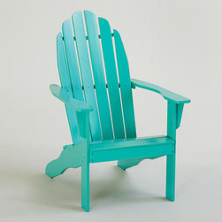 Blue Turquoise Classic Adirondack Chair - I have always wanted an Adirondack chair, and this one in turquoise has made my dreams come true! The pop of color is just perfect for enjoying a cold drink on a summer's night.