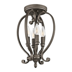 Kichler Lighting - Kichler Lighting 43168OZ Monroe Transitional Semi Flush Mount Ceiling Light - Kichler Lighting 43168OZ Monroe Transitional Semi Flush Mount Ceiling Light