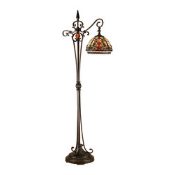 Dale Tiffany - Dale Tiffany TF101115 Boehme Floor Lamp - Shade: Hand Rolled Art Glass