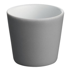 Alessi Dinnerware - Alessi Dinnerware Tonale Espresso Cup - Dark Grey - Espresso cup in stoneware.  A seemingly random collection of objects, the table service comprises a number of items including a tray, a board, a carafe, plates, bowls, beakers, and cups. The project was inspired by vernacular ceramics from Korea, Japan, and China, and conceived as an exercise in refining functional household objects. The name 'Tonale' refers to Giorgio Morandi's use of color tonality imbuing his daily objects with a sense of individuality. The objects are produced in a variety of materials including enamelled steel, glass, earthenware, and wood. While striving for expressive purity, the range honors today's requirements for durability and versatility. Manufactured by Alessi. Designed in 2009.