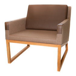 La Viola Decor - Solo Brown Contemporary Armchair - Intelligently designed with your needs for comfort, luxury, and style in mind – this square Solo armchair, with its innovative, smart, and conservative style would be a perfect addition to your home. Cushioning and expert shapes makes your sitting experience both luxurious and comforting. All the while, this Solo armchair is attractive; it also adds style to your home making it look chic and trendy.