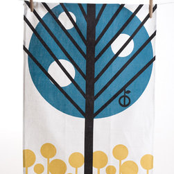 Apple Tea Towel by Ferm LIving - Add a dash of fun Scandinavian geometric art to your kitchen with this cheerful apple tree dishtowel from Ferm LIving.
