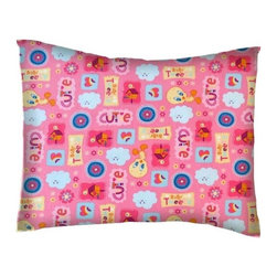 SheetWorld - SheetWorld Twin Pillow Case - Percale Pillow Case - Baby Tweety Pink-Made in USA - Twin pillow case. Made of an all cotton woven fabric. Side Opening. Features the one and only Cutie Baby Tweety on a pink colored background!