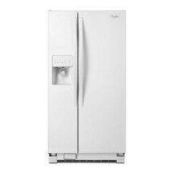 """Whirlpool - WRS322FDAW Energy Star Rated 33"""" 22 cu. ft. Side by Side Refrigerator with 3 Sli - With thru-the-door ice and water this Whirlpool 220 cu ft side-by-side refrigerator allows you to easily have a cold refreshing drink Four Spillguard shelves and a humidity-controlled crisper offer plenty of space for groceries"""