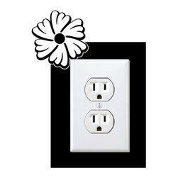 StickONmania - Outlet Plants #11 Sticker - a vinyl decal sticker to decorate a wall outlet.  Decorate your home with original vinyl decals made to order in our shop located in the USA. We only use the best equipment and materials to guarantee the everlasting quality of each vinyl sticker. Our original wall art design stickers are easy to apply on most flat surfaces, including slightly textured walls, windows, mirrors, or any smooth surface. Some wall decals may come in multiple pieces due to the size of the design, different sizes of most of our vinyl stickers are available, please message us for a quote. Interior wall decor stickers come with a MATTE finish that is easier to remove from painted surfaces but Exterior stickers for cars,  bathrooms and refrigerators come with a stickier GLOSSY finish that can also be used for exterior purposes. We DO NOT recommend using glossy finish stickers on walls. All of our Vinyl wall decals are removable but not re-positionable, simply peel and stick, no glue or chemicals needed. Our decals always come with instructions and if you order from Houzz we will always add a small thank you gift.