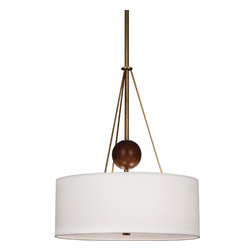 Robert Abbey - Jonathan Adler Ojai Pendant - You'll take a shine to this pendant. Its clean, modern lines look fabulous over a kitchen or dining table. The linen shade diffuses light beautifully to create the perfect ambience.