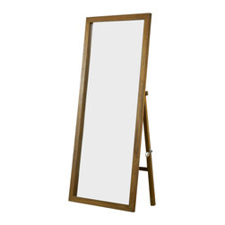 Modus Furniture - Modus Furniture City II Freestanding Floor Mirror Pecan - Modus Furniture - Mirrors - 1X2788F - The City II collection delivers the same modern chic styling as its older sibling but at a more affordable price. The group is constructed with tropical hardwoods and veneers finished in a deep Coco tone and features a padded faux leather headboard.