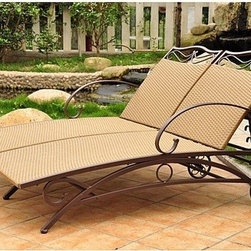 "International Caravan - Valencia Double Chaise Lounge - This outdoor double chaise lounge from International Caravan features a light pecan finish and a brown steel frame. The gorgeous outdoor woven design will make this unit great addition to any outdoor patio set. This wicker chaise has 5-multiple positions for various comfort zones, and a premium outdoor weather proof coating against harsh weathers and sun fading. Also equipped with a strong steel frame for durability and support. Easy assembly, instructions and tools included Features: -Beautiful wicker outdoor woven design.-Premium outdoor weatherproof protection.-UV light fading protection.-Beautiful addition to any patio.-Multiple position for various comfort zones.-Light pecan, brown steel frame finish.-Valencia collection.-Weight Capacity: 300 lbs.-Woven Material: Resin wicker.-Powder Coated Finish: Yes.-Weather Resistant or Weatherproof: Weatherproof.-Mildew Resistant: Yes.-Cushions Available: Yes.-Cushions Included: No.-Arms: Yes.-Reclining Mechanism Details: 5 positions.-Umbrella: No.-Seating Capacity: 2.-Hardware Included: Yes.Dimensions: -Seat Height Without Cushion: 16"".-Overall Height - Top to Bottom: 27"".-Overall Width - Side to Side: 50"".-Overall Depth - Front to Back: 73"".-Overall Product Weight: 51 lbs."