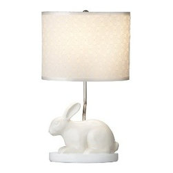 A Color Trends Forecast for 2015 - Paired with pastels, a whimsical bunny lamp is sweet and feminine.