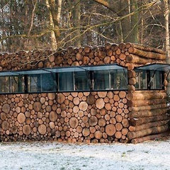 Camouflauged Log House by Piet Hein Eek Home Quotient | Apartment Therapy New Yo