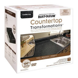 RUSTOLEUM - RUST-OLEUM COUNTERTOP TRANSFORMATIONS KIT CHARCOAL - Love the look of granite but scared off by the cost and hassle of replacing your countertops? Let Rust-Oleum Transformations
