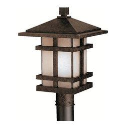 Kichler - Kichler 9529AGZ 1 Light Post Light from the Cross Creek Collection - Kichler 9529 Cross Creek Outdoor Post Lantern