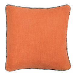 Villa Home Collection - Roche Orange Pillow - Beautifully handmade and hand woven, each pillow is made with a quality fill of 95% feather and 5% down. The Villa Home collection offers a variety of colors, textures and accents that will add a feeling of luxury to your home. The Roche pillow is 100% Cotton.  See General Information & Shopping Assistance for additional information.