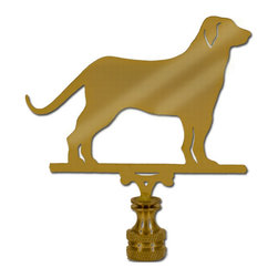 Labrador Retriever Lamp Finial, Brass - I have no idea where this would ever fit (maybe a boys' room?), but a lab finial is adorable.