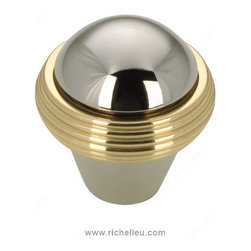 "Contemporary Solid Brass Knob - 1063 - Bp1063130180 - Finish Brass, Nickel Diameter 1.25"" Material Solid Brass Packaging format Bag"