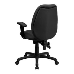 Flash Furniture - Flash Furniture Office Chairs Mesh Executive Swivels X-GG-YG-H1916-TB - Get great comfort in this Multi-Functional Ergonomic Task Chair that features several adjustments to meet your seating needs. This chair features a comfortably padded seat and back with built-in lumbar support for long hour work days. The triple paddle control lets you adjust the pneumatic seat height, locking seat tilt and locking back tilt all at your fingertips. [BT-6191H-GY-GG]