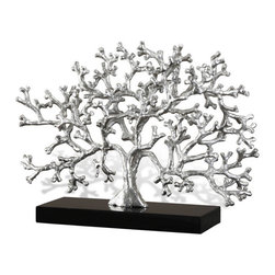 Interlude - Caicos Fan Coral - Metal Coral Sculpture with granite base. Easy to clean and comes as one unit.