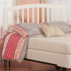 Atlantic Furniture - Atlantic Furniture Richmond Twin Headboard in White-Full - Atlantic Furniture - Headboards - R188832 - The sleek bowed style and traditional slats compile a classic look for the Richmond headboard. The open head rail design promotes a vertical synergy that will mate nicely with any room setting .