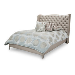 AICO - Hollywood Loft Frost Bed Collection by AICO, California King - Collection includes: nightstand, mirror, dresser, chest, and bed of your choice in size.