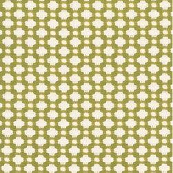 Schumacher - Betwixt Fabric, Grass/Ivory - 2 Yard Minimum Order