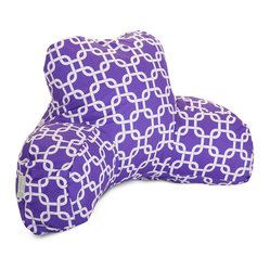 Indoor Purple Links Reading Pillow