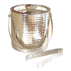 Hammered Ice Bucket With Tongs - You always need an ice bucket handy for those occasions worth celebrating. This hammered metal ice bucket is chic and screams for a celebration!
