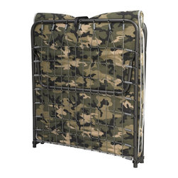 Linon Home Decor - Linon Lione Folding Cot, Camouflage - The Lione Camouflage Folding Cot is simple and easy to use. The bed sets up in mere seconds, while the plush mattress provides your guests with comfortable support for a restful night's sleep. The cot folds down in seconds into a small unit making it compact enough to store away in almost any closet. Use it as an extra bed, guest bed, kid's bed or camping bed.