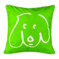 Crypton - Crypton Doodle Dog Pillow Kermit - Declare your love for all things canine with this playful pillow! William Wegman's iconic pup drawing is just the bit of whimsy your room needs. Stain-resistant, yet easy to clean, this pillow is the perfect combination of practicality and fun.