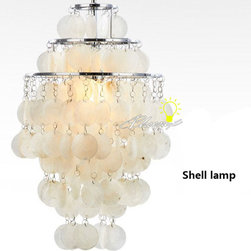 Shell Lamp pendant lighting in Chrome Finish -