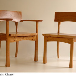 T.K. Lynch Joinery -- Furniture - Cherry Dining Chairs    Photo:K.Lynch