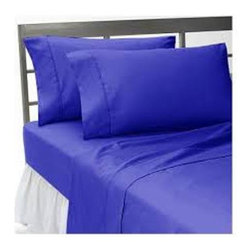 Hothaat - 600TC 100% Egyptian Cotton Solid Egyptian Blue Expanded Queen Size Fitted Sheet - Redefine your everyday elegance with these luxuriously super soft Fitted Sheet. This is 100% Egyptian Cotton Superior quality Fitted Sheet that are truly worthy of a classy and elegant look.