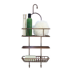 Nottingham Hanging Shower Caddy - Composed of solid brass, this classic shower caddy keeps bath accessories organized and easily accessible. A must-have for any shower.