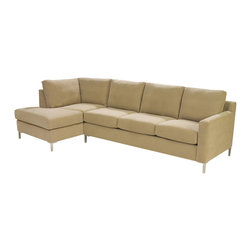 Lazar Industries - Soho Sectional:  Chaise and Adjacent 3-Seater Queen Sleeper - Soho Sectional:  Chaise and Adjacent 3-Seater Queen Sleeper:  Lazar's most popular and customizable stlye, the Soho offers modern luxury in a compact package.